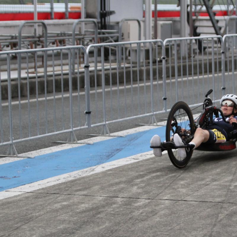 Arna Sigríður Albertsdóttir hefur nú lokið keppni í handahjólreiðum á Paralympics í Tokyo