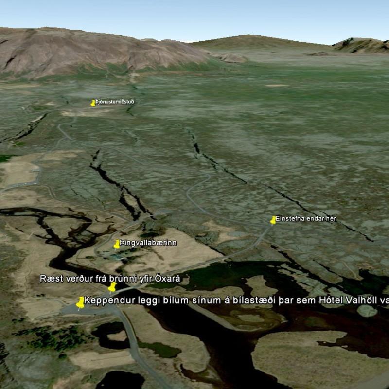 Þingvallakeppnin: afhending gagna og ræsing